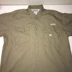 Mens Columbia fishing shirt
